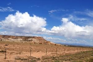 Wüste in New Mexico: So schön sah es auf der einen Seite aus...