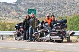 Vor Grant, New Mexico: 10 000 Kilometer sind geschafft.