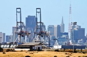 The City vom Hafenviertel aus.