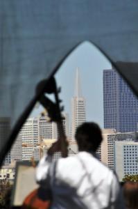 Open Air Klassik im Dolores Park: Das San Francisco Sinfonie Orchestra spielt.