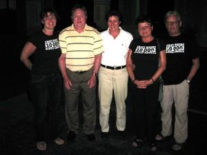 Brigitte und Horst Junker waren auf Golftour - ein Treffen mit Essen bei Applebee's war natürlich Pflicht.