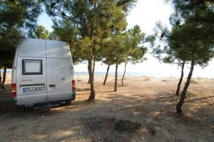 Cooler Stellplatz am Mittelmeer...